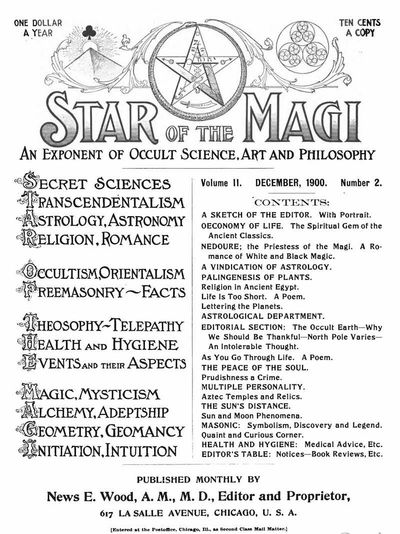 cardology.org - Star of the Magi Dec 1900 - Olney Richmond, Grand Master of the Order of the Magi