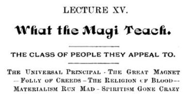 cardology.org - What the Magi Teach by Olney H Richmond - Order of the Magi