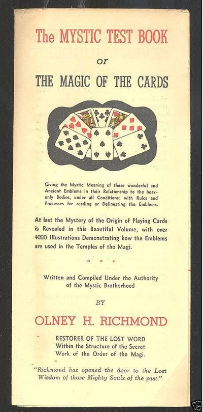 cardology.org - The Mystic Test Book or The Magic of the Cards - Olney Richmond, Father of Cardology