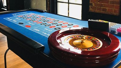 Roulette table for your casino game night in Buffalo NY.