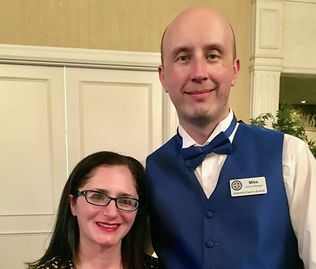 Mike and Julie Jurkowski, owners of Amherst Casino Events