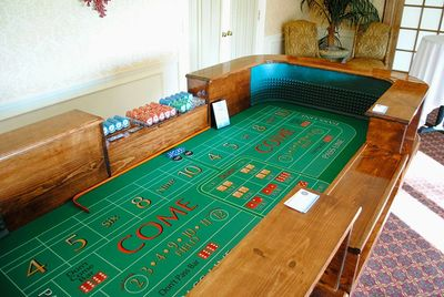 Amherst Casino Events' craps table at a casino fun night in Buffalo.