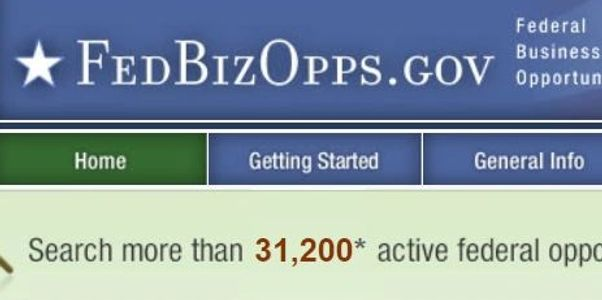 Home page at FedBizOps.gov.  This day there were more than 31,000 contract opportunities available.