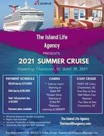 Join us Summer 2021! On a cruise to the Bahamas!!  5 days leaving from Charleston, SC Stops at Carni