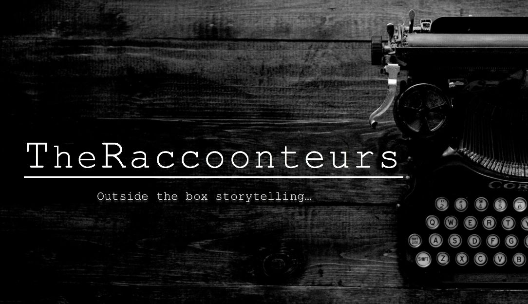 The Raccoonteurs outside the box storytelling with old typewriter
