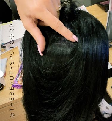 "black 22"" hidden hair double tape extensions. Great for length, fullness or just because why not?"