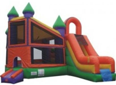 bounce house combo with slide