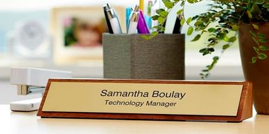 name plate, engraved name plate, custom name plate, san diego, best, business, office