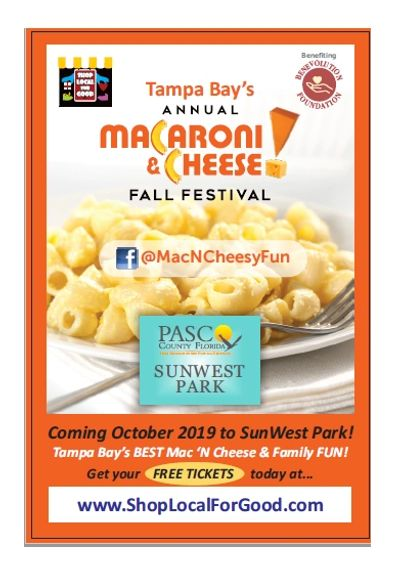 Tampa Bay's Annual Macaroni N Cheese Fall Festival at SunWest Park in Pasco County, Florida