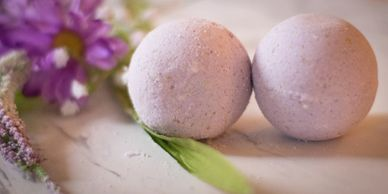 A CARING TOUCH SKIN THERAPY Lavender Bath Bomb Fizzy