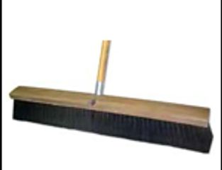push broom, sweeping, floor maintenance