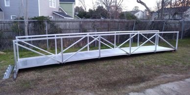 Aluminum Dock Fabrication, West Columbia, South Carolina, Marine Dock Construction.