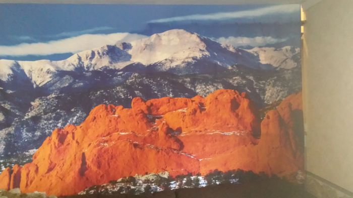 Dye Sublimated Tapestry Pikes Peak, Garden of the Gods, Kissing Camels.
