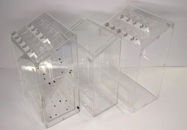 custom plastic fabricated acrylic assembly for use in the medical industry