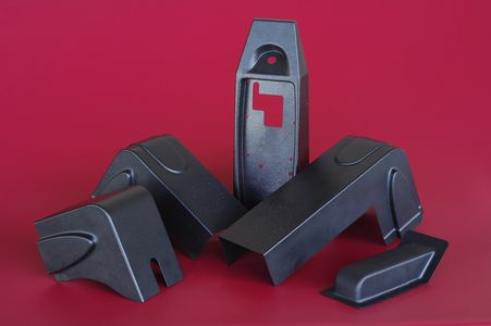 Thermoformed/Vacuumformed Plastic Housings for use in the Sporting Goods industry, made of Black ABS