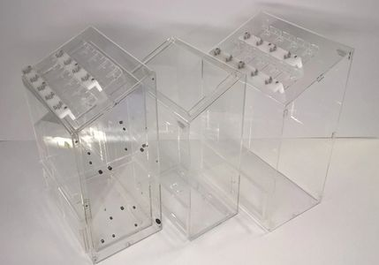 Plastic Fabrication Thermoformed, Clear Acrylic with multiple sub assemblies dual layer box
