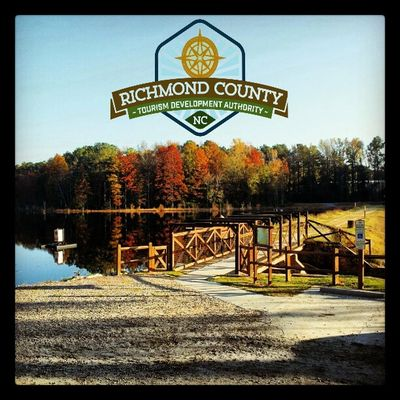 Hinson Lake in Rockingham NC.North Carolina. Rockingham Rotary Club. Richmond County Tourism Development Authority. Visit Richmond County NC. Outdoor sports. Walking. Jogging. Running. Marathons. Hinson Lake Ultra Marathon. Fishing.