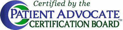 Certified by the Patient Advocate Certification Board - Logo