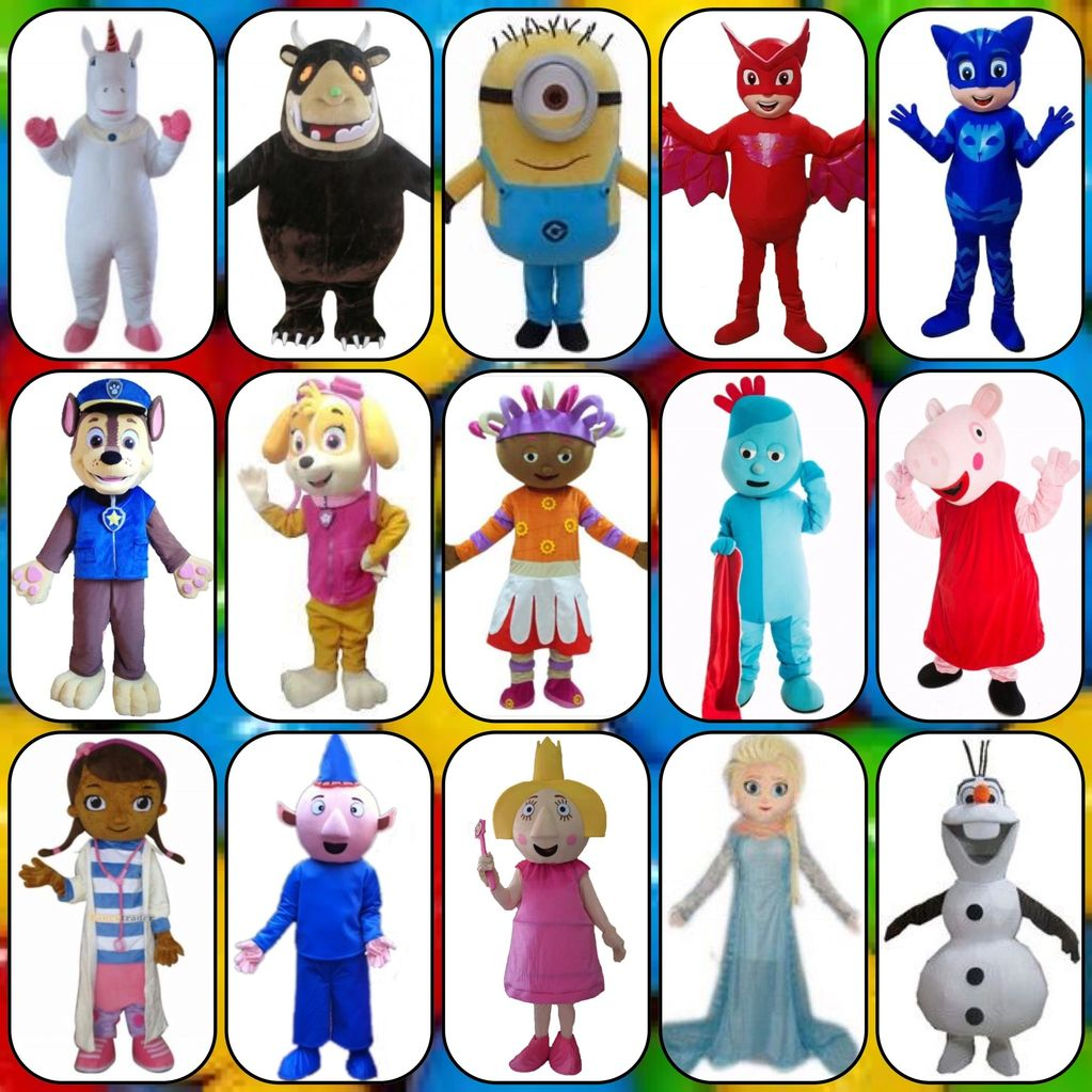 Mascots for hire. Add to your TeaTots party or an unmanned or manned mascot for your own event.