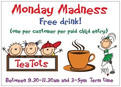 Free drink with entry on Monday mornings 9.30-11.30 and Monday afternoons 3-5 in term time.