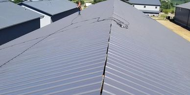 steel roof construction.