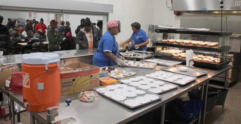 Daily soup kitchen noon meal