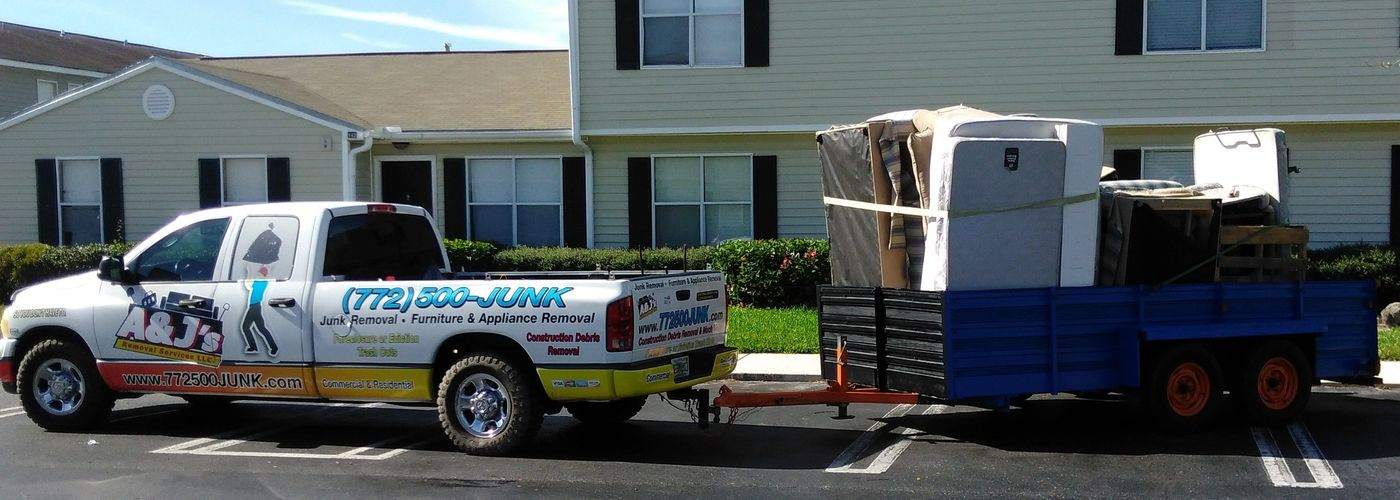 Full Load of Bulk Furniture that was removed from an apartment complex by A & J's Removal Services