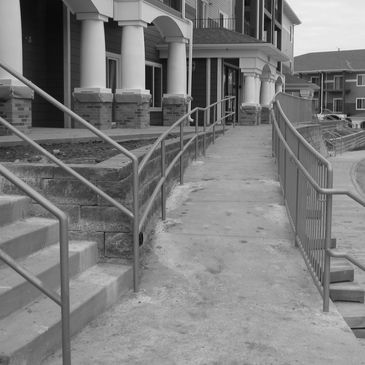 Custom Commercial railings by CDG Ironworks