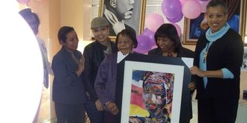 "Awarded by Bed-Stuy Seniors for ""The Woman in the Frontline"""