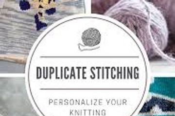 Learn duplicate stitch to create personalized knits and repair your knitted fabric