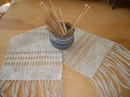 Leno lace on a rigid heddle loom