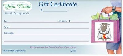 Yarn Cloud Gift Certificate