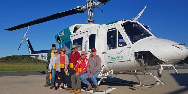 Precision Helicopters taking Volunteers to South Solitary Island