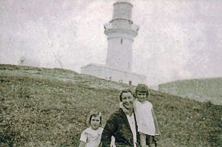 Mercedes Sauerstein (Tulk) on the right with her grandmother and sister Norma on the left