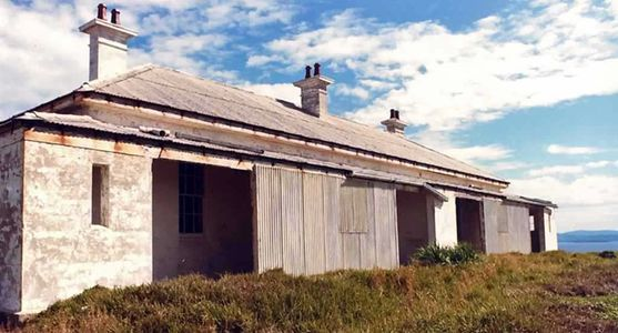 South Solitary Island Assistant Keeper's Cottages (before stabilisation in 2004), New South Wales