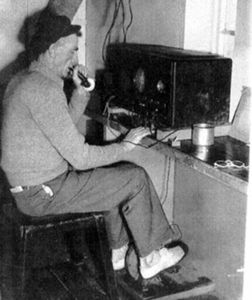 Lighthouse Keeper, Jim Duncan - Pedal Radio in 1946