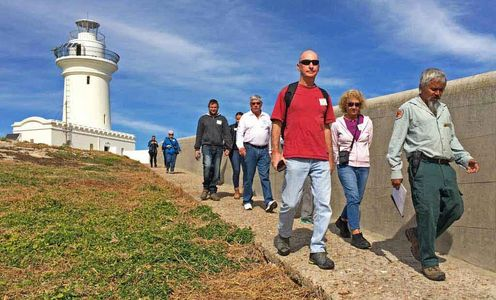 Walking Guided Tour on South Solitary Island, New South Wales, Photo by Phil Nicholas, Lighthouse