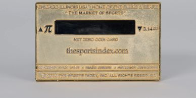 sports index, stock market, charter member card, numismatic