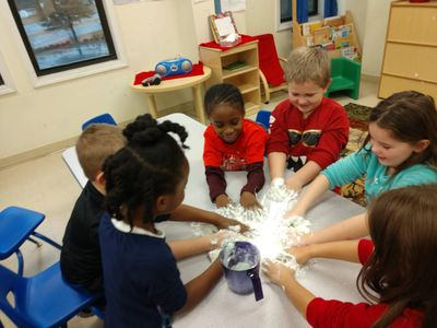 Children enjoy learning through steam activities from infants - camp programs.