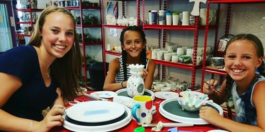 paint your own pottery, pottery art, pottery painting
