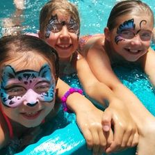 water resistant face painting in Raleigh water proof face painting  pool parties face paint