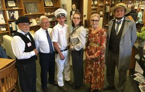 """Afternoon at the Museum"" re-enactors"