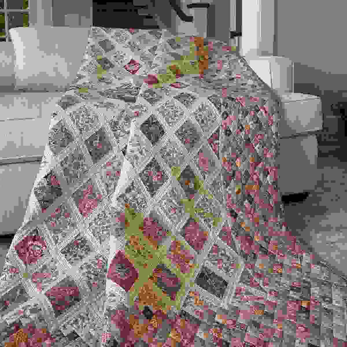 Just arrived, Jane Austen Coverlet Kit, this is being called the Holy Grail of quilts.  197.99