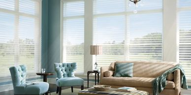 Silhouette, sheer shades, hunter douglas, shades Rockville MD,