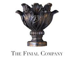 the finial company, drapery hardware, catalog, Rockville Maryland