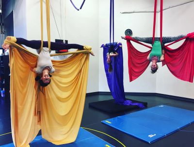 adult aerial silks group class