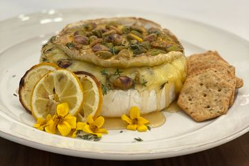 Baked Brie with Lemon Curd for Grazing Boxes