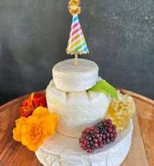 Brie Birthday Cake for Grazing Boards.