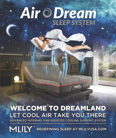 ASK FOR OUR COOL AIR DREAM SLEEP SYSTEM