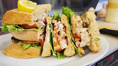 Seafood Club Sandwich
